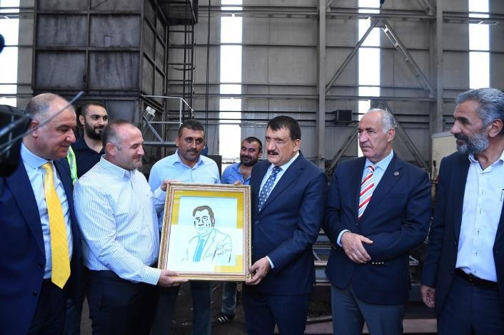 Başkan Gürkan maden firmasını ziyaret etti