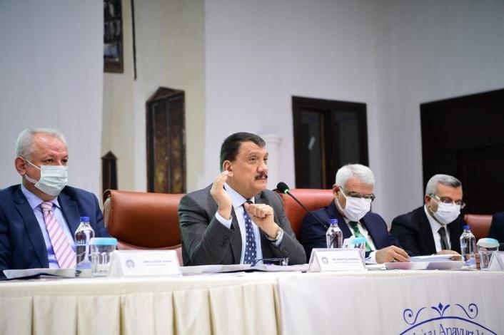 Başkan Gürkan, muhtarlarıyla bir araya geldi