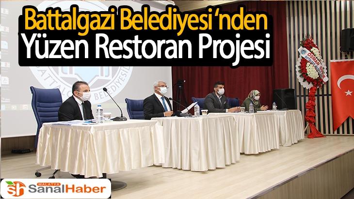 Battalgazi Belediyesi'nden Yüzen Restoran Projesi