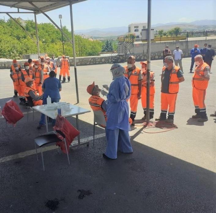 Battalgazi´de belediye personeline korona virüs testi yapılacak