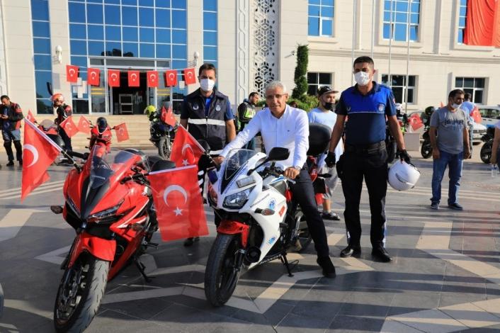 Battalgazi´de motosiklet kortejli zafer bayramı kutlaması