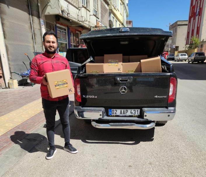 Besni´de 750 aileye gıda yardımı