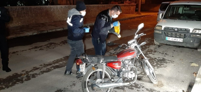 Çalındı motosiklet terk edilmiş halde bulundu