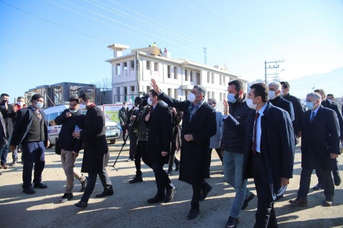 CHP heyeti, deprem bölgesi Elazığ´da çalışmaları yerinde inceledi