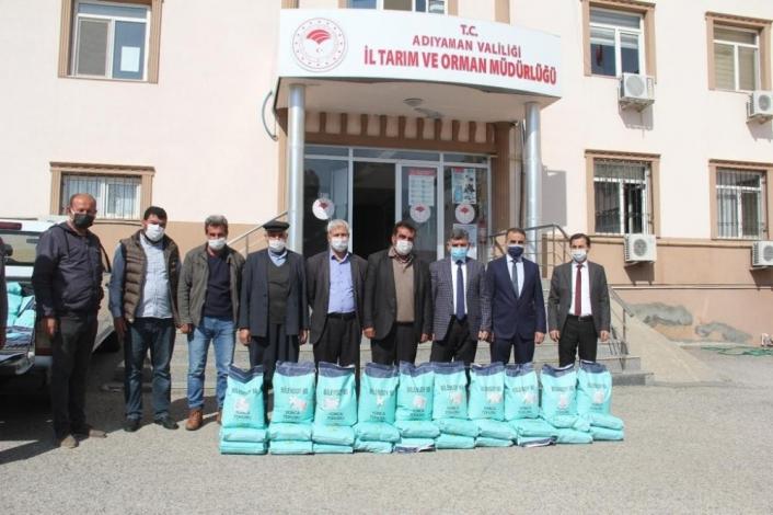 Çiftçilere yem bitkisi tohumu dağıtıldı