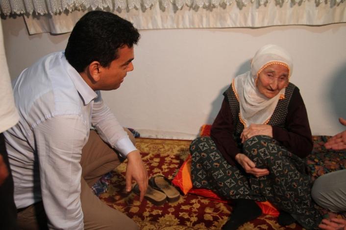 Depremden etkilenen köyleri gezen Kaymakam Şahin: