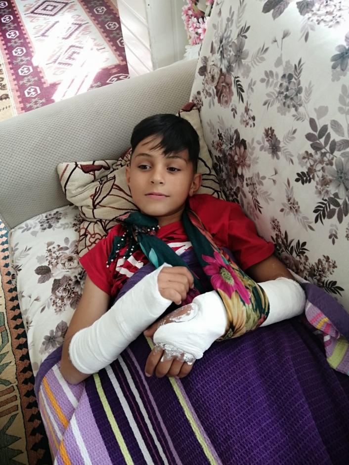 Ders çalışmaya giden öğrencinin 2 kolu kırıldı