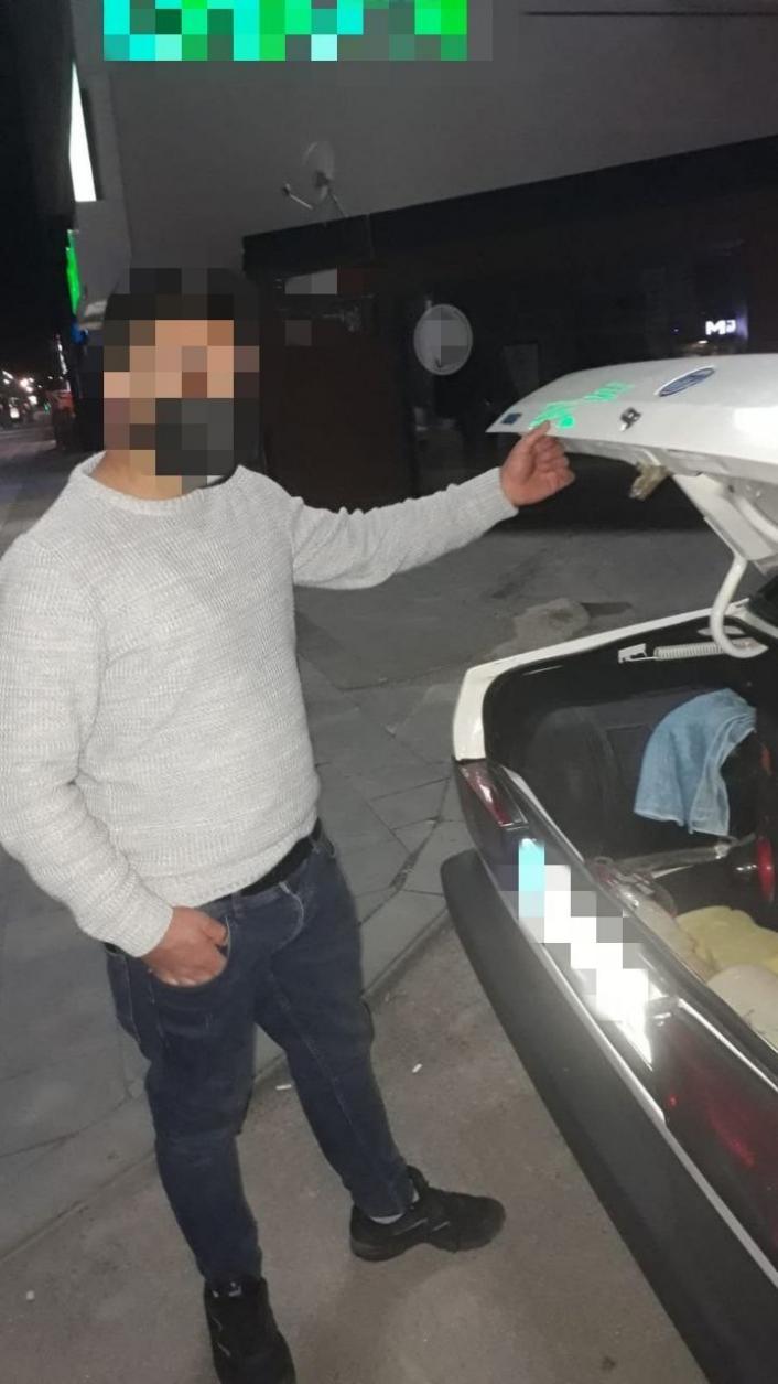 Drift atan sürücüye 7 bin 446 TL para cezası uygulandı, aracına el konuldu