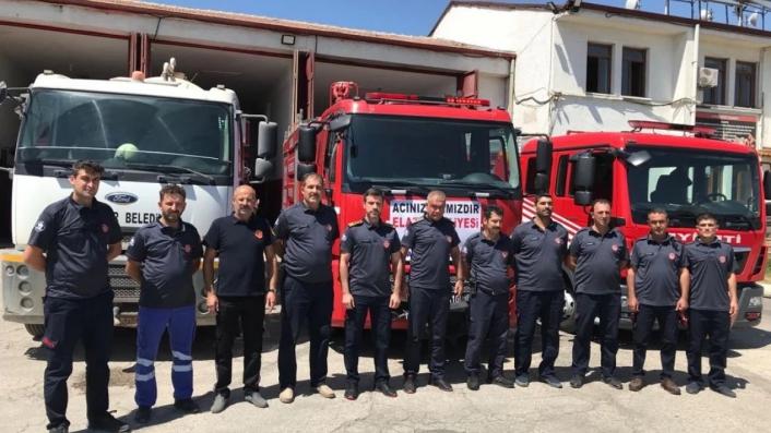 Elazığ Belediyesi itfaiyesinden Manavgat´a destek
