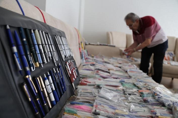 Elazığ´da 19 bin adetlik kalem koleksiyonu