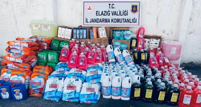 Elazığ´da 2 tondan fazla taklit temizlik malzemesi ele geçirildi