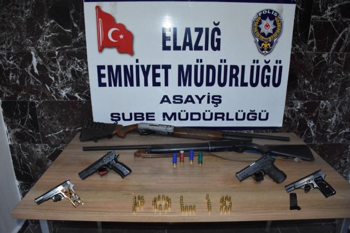 Elazığ´da aranan 33 şüpheli yakalanıp, tutuklandı