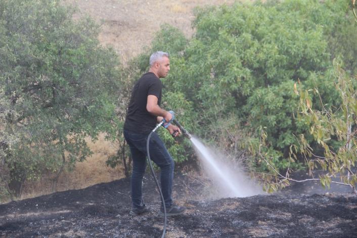 Elazığ´da bahçe yangınında 20 dönüm alan zarar gördü