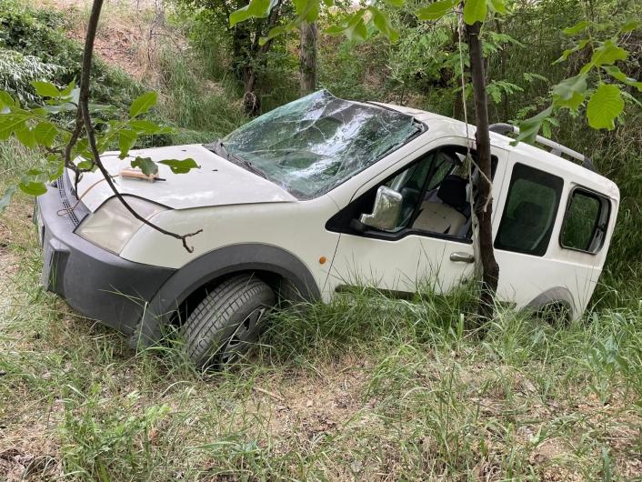 Elazığ´da hafif ticari araç şarampole uçtu: 3 yaralı