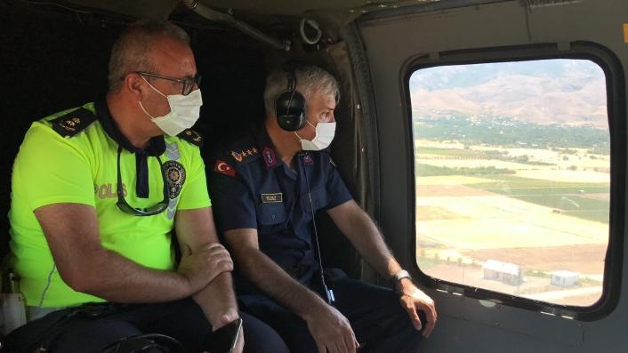 Elazığ´da helikopter destekli trafik denetimi
