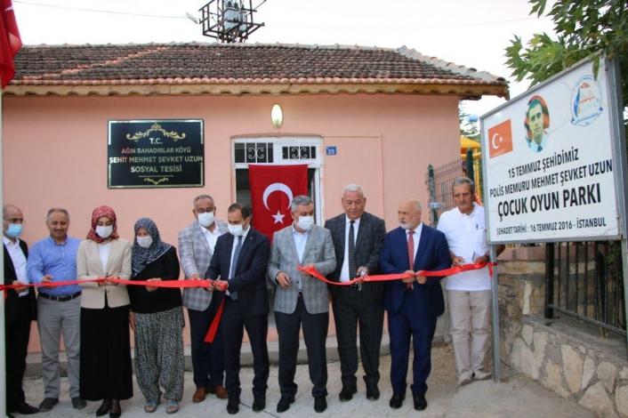 Elazığ´da şehit Mehmet Uzun sosyal tesisi ve parkının açılışı yapıldı