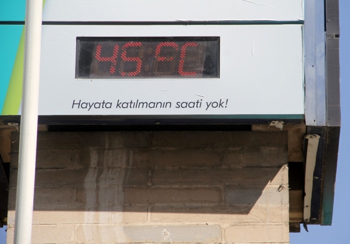 Elazığ´da termometreler 45 dereceyi gösterdi