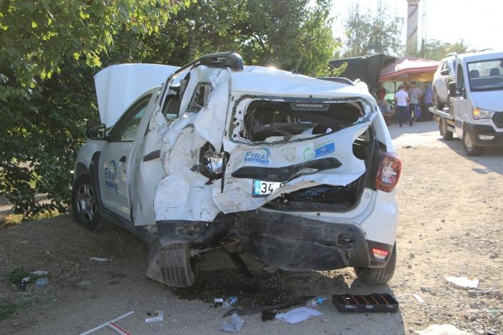 Elazığ´da zincirleme trafik kazası: 8 yaralı