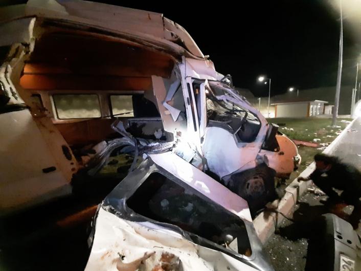 Elazığ´daki minibüs kazasında 1 kişi hayatını kaybetti