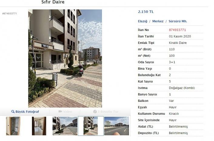 Elazığ´dan tepki çeken haber, bazı depremzedeler aldığı dairelere 2 bin 150 TL kira istedi