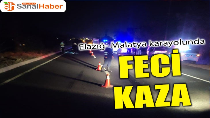 Elazığ- Malatya karayolunda feci kaza