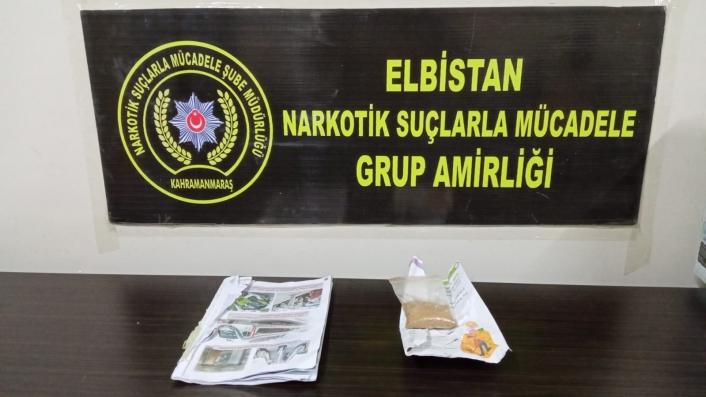 Elbistan´da uyuşturucu operasyonunda 1 tutuklama