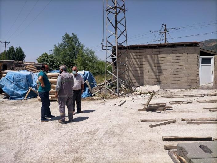 Elektrik akımına kapılan işçisi ağır yaralandı
