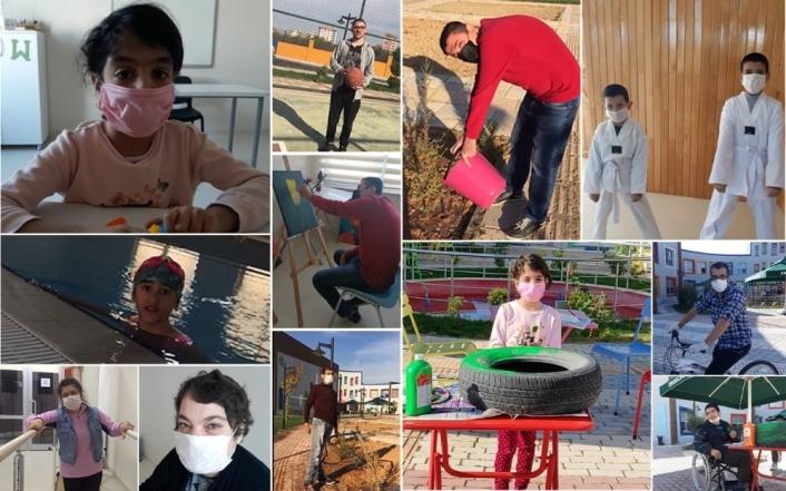 Engelli çocuklardan Başkan Güder´e videolu moral
