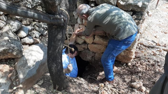 Fosseptik çukuru kazarken tünel ortaya çıktı