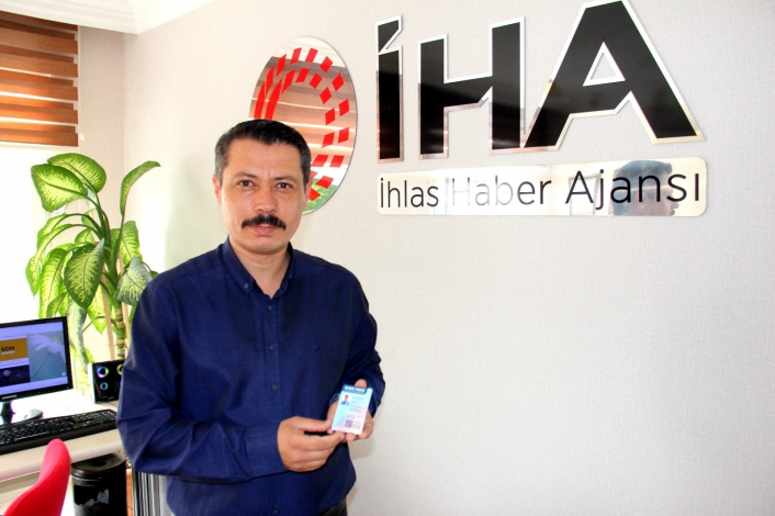 Gazeteci Ahmet Arslantaş `Sürekli Basın Kartı´ sahibi oldu