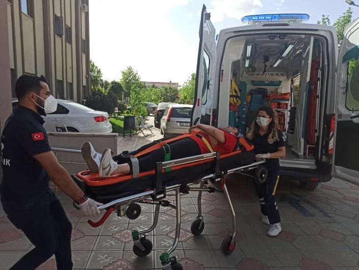 Gerger Belediye Başkanı makam aracıyla kaza yaptı