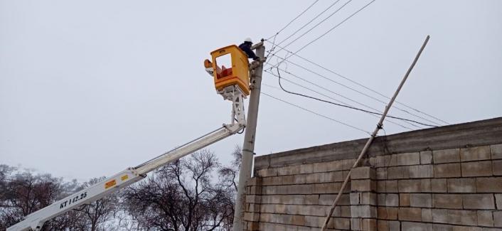 Gölbaşı ilçesindeki elektrik hatlarında yoğun çalışma