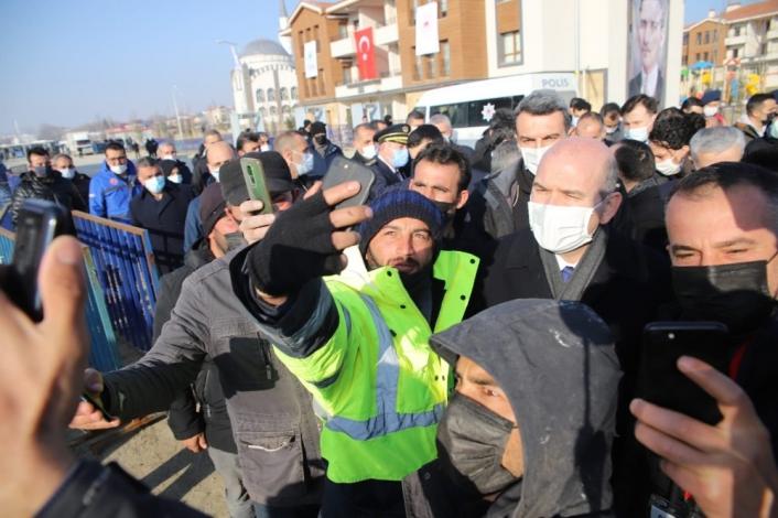 İçişleri Bakanı Süleyman Soylu, 8 bininci deprem konut teslim töreni için Elazığ´da