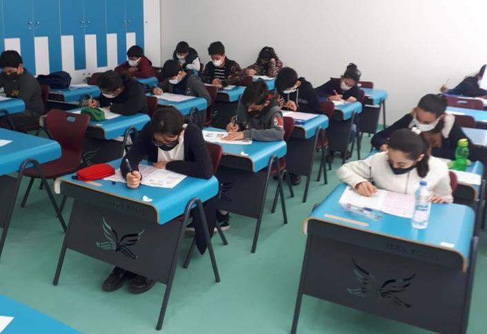 İkra Koleji bursluluk sınavı yaptı