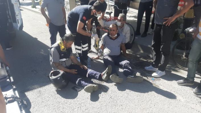 İşe giden belediye personelleri kaza yaptı: 2 yaralı