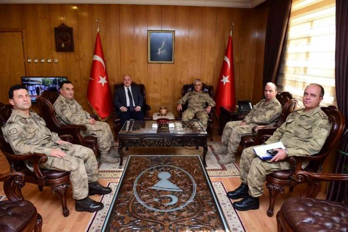 Jandarma Genel Komutanı Org. Çetin´den Kahramanmaraş Valisi Coşkun´a ziyaret