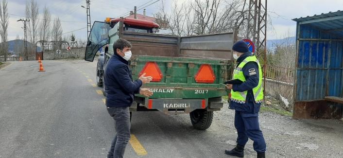 Jandarmadan tarımsal zirai araç ve traktör denetimi