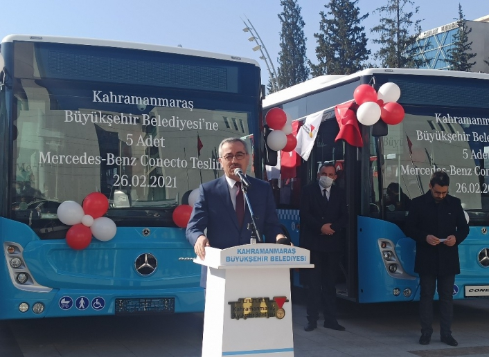 Kahramanmaraş´a tam donanımlı 5 yeni halk otobüsü
