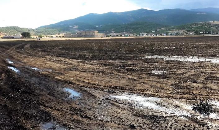 Kahramanmaraş´ta 200 dekarlık buğday tarlası yandı