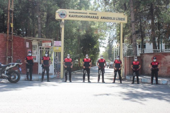 Kahramanmaraş´ta 338 okula 199 polis