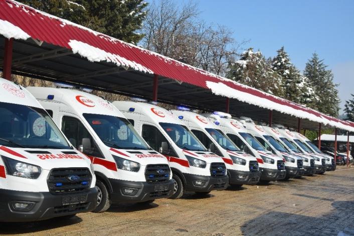 Kahramanmaraş´ta ambulans sayısı 90´a ulaştı
