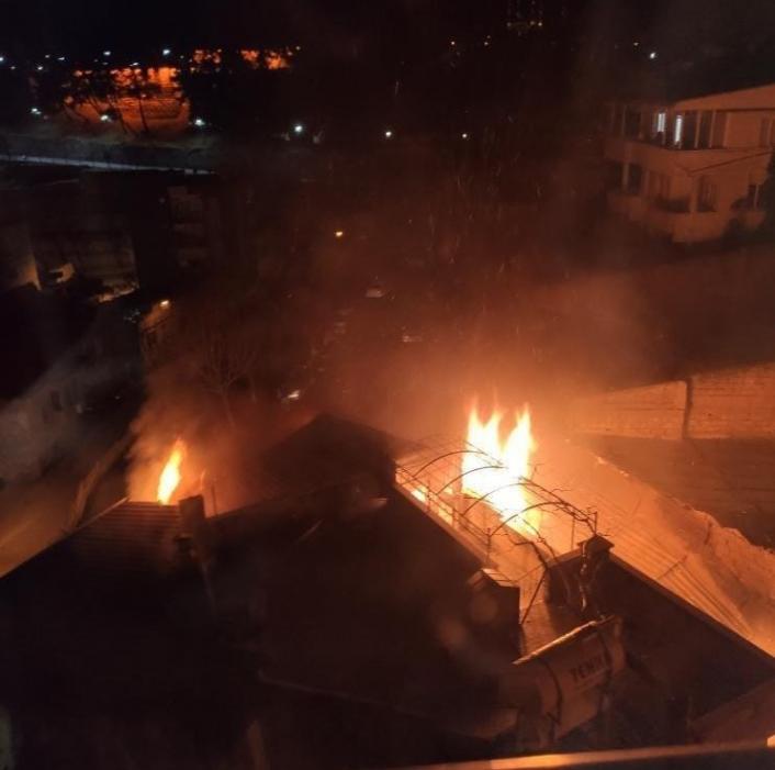 Kahramanmaraş´ta ev yangınında karı koca yaralandı