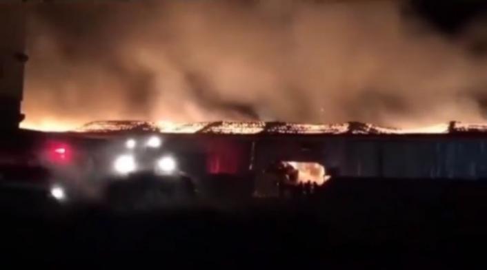 Kahramanmaraş´ta geri dönüşüm tesisinde yangın