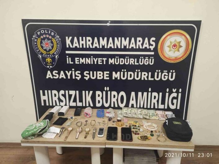 Kahramanmaraş´ta hırsızlığa 2 tutuklama