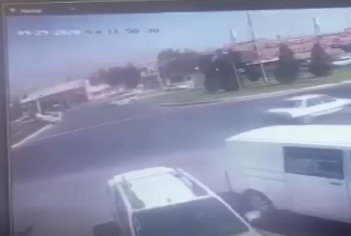 Kahramanmaraş´ta trafik kazası kamerada