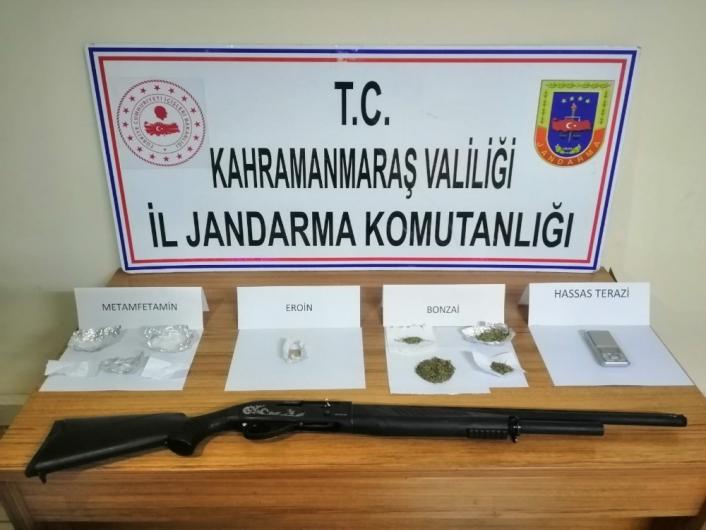 Kahramanmaraş´ta uyuşturucu operasyonu; 5 gözaltı