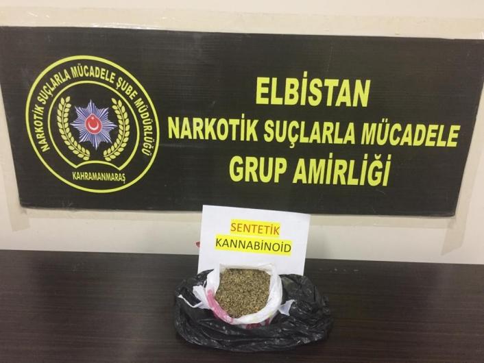 Kahramanmaraş´ta uyuşturucu operasyonunda 2 tutuklama