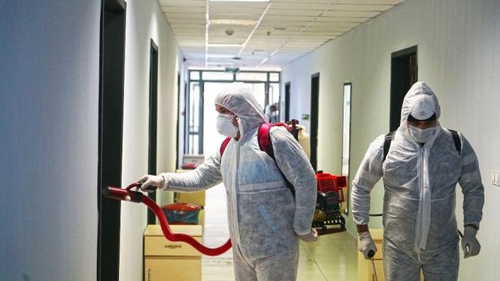 Kahramanmaraş´ta yurtlar dezenfekte ediliyor