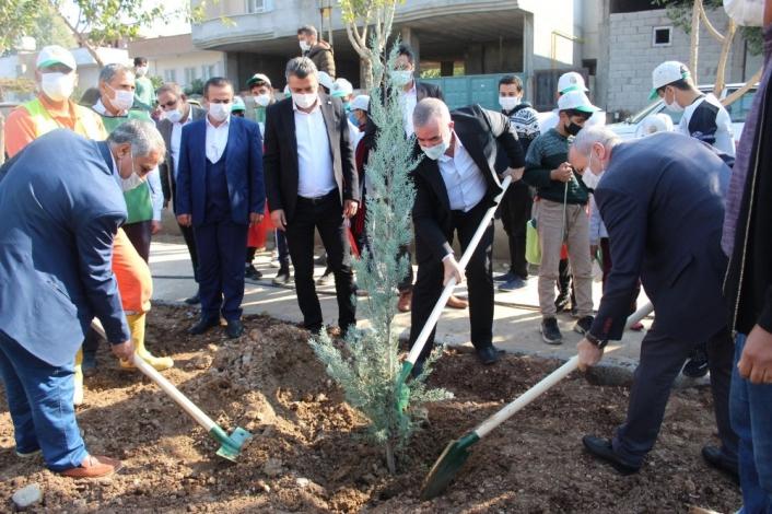 Kahta belediyesinden ağaç dikme etkinliği