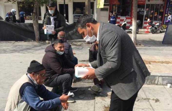 Kahta´da 5 bin adet maske dağıtıldı